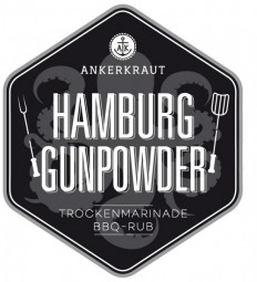 Hamburg Gunpowder, BBQ-Rub Tüte, 250 Gramm