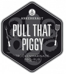 Pull that piggy, Pulled Pork und Ribs BBQ-Rub Tüte, 250 Gramm