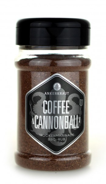 Coffee Cannonball, BBQ-Rub, 200gr im Streuer