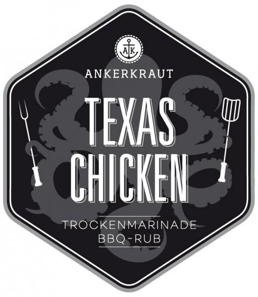 Texas Chicken BBQ-Rub Tüte, 250 Gramm