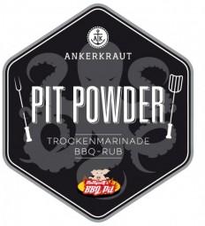 Pit Powder, BBQ-Rub Tüte, 250 Gramm