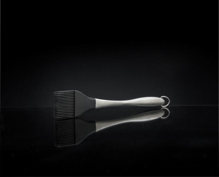 PRO Edelstahl Pinsel mit Silikonborsten 11,5