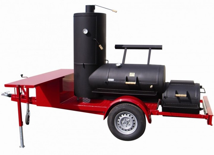 24 39 39 catering smoker trailer rumo smoker grills 360 bbq das kulinarische rundum. Black Bedroom Furniture Sets. Home Design Ideas