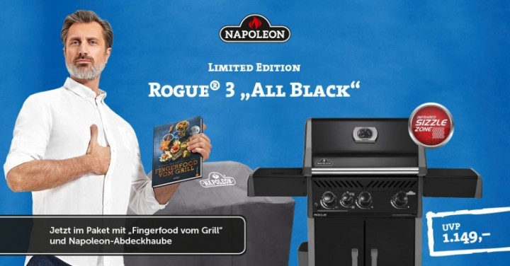 Rogue® Limited Edition inkl. Haube und NAPOLEON® Grillbuch