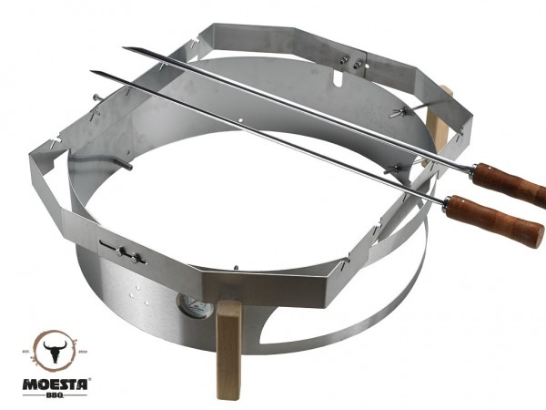 Moesta BBQ Churrasco'BBQ - Set für Smokin'Pizzaring: 57 cm (4-teilig)