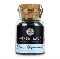 Ankerkraut Schwarzes Pyramidensalz im Korkenglas 75g