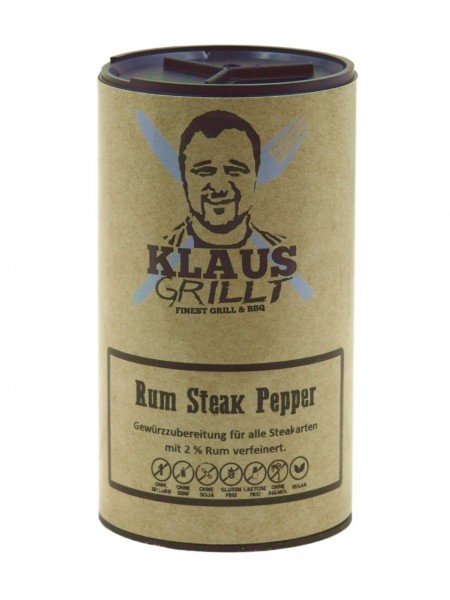 Klaus Grillt Rum Steak Pepper im Streuer (100g)