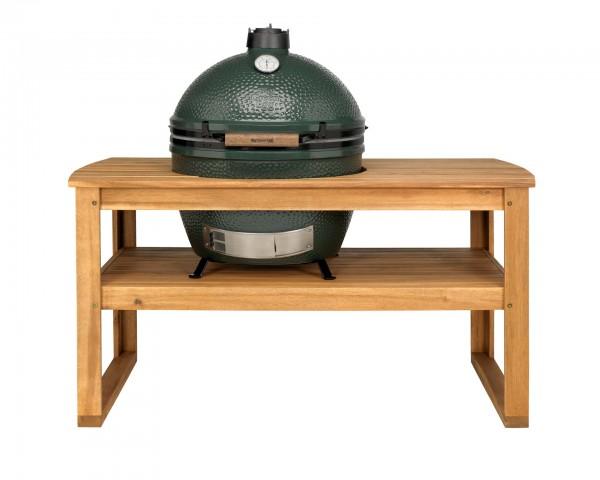 Big Green Egg Tisch aus Akazienholz inkl. Rollen für XLarge