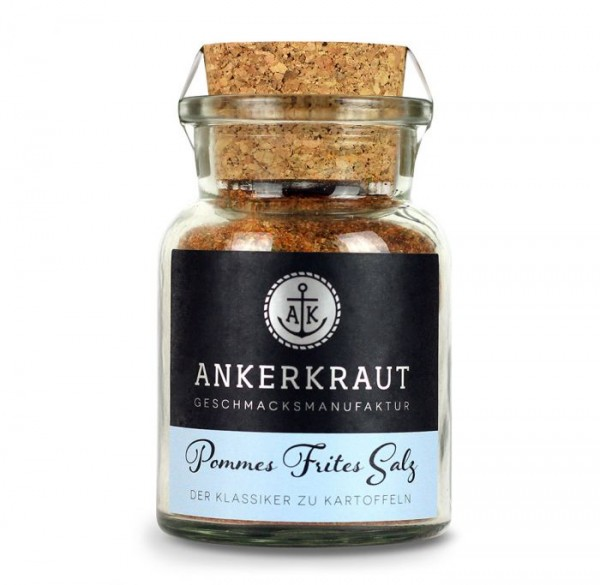 Ankerkraut Pommes Frites Salz im Korkenglas 130g
