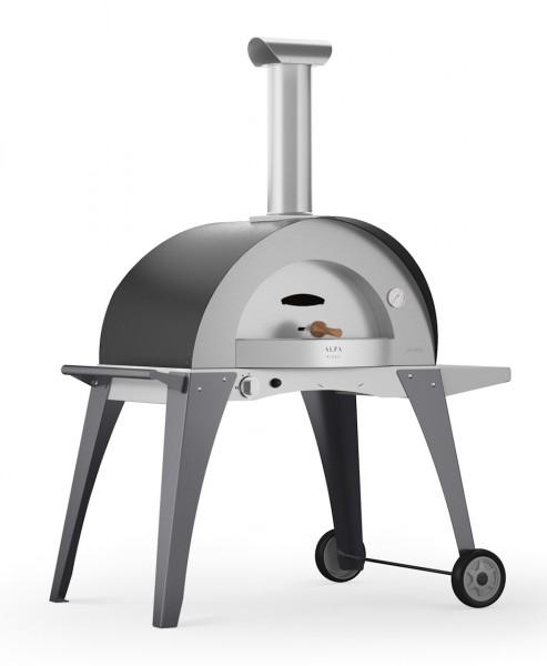 Alfa Pizza Pizzaofen Domo mit Stand (grau)