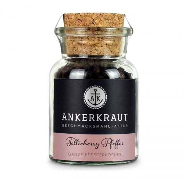 Ankerkraut Tellicherry Pfeffer, ganz Körne, im Korkenglas 70g