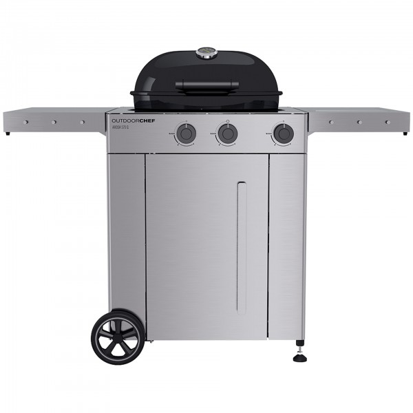 Outdoorchef - Arosa 570 G Premium Steel, schwarz, Gaskugelgrill