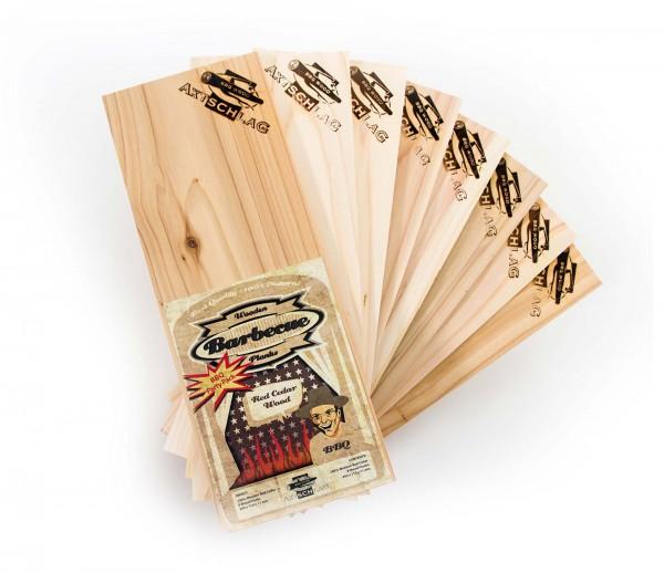Axtschlag Grillbretter (BBQ Party Pack) - Rot Zeder (Western Red Cedar), 300 x 110 x 11 mm 8 Stk.