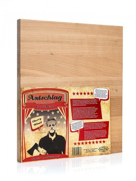 Axtschlag Schneidebrett L - Cut & Decor, 400 x 350 x 25 mm (Kirschenholz)