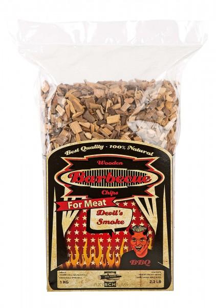 Axtschlag Räucherchips - Devil´s Smoke (Spezialmischung für Fleisch) 1kg