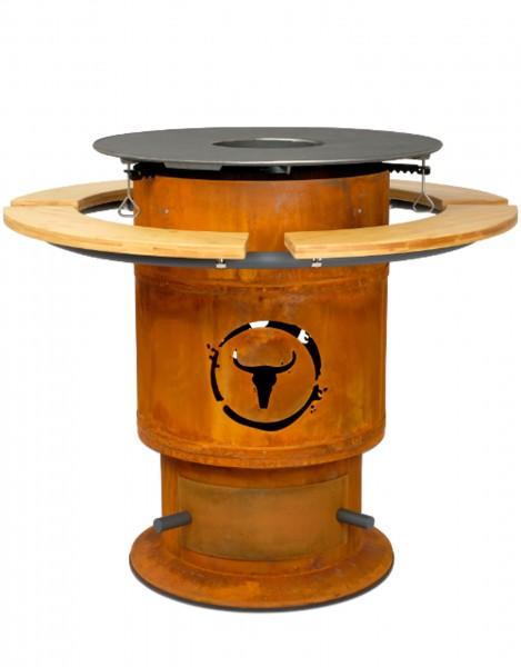 Moesta Bandit - Fireplace inkl. Ablagebretter & BBQ Disk Set
