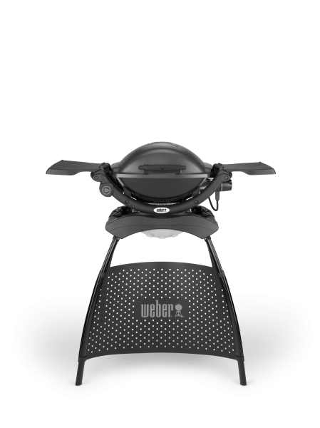 Weber Q 1400 Elektrogrill mit Stand, Dark Grey