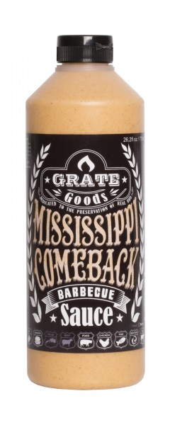 Grate Goods Mississippi Comeback Barbecue Sauce (groß) 775ml