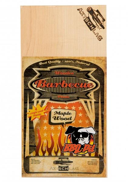 Axtschlag Wood Planks - Maple (Ahorn) Einweg Räucherbretter 4 Stk. a 300x150x2mm