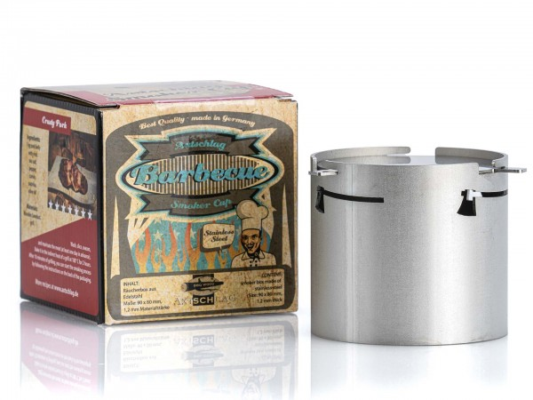 Axtschlag Räucherbox aus Edelstahl 80x90mm