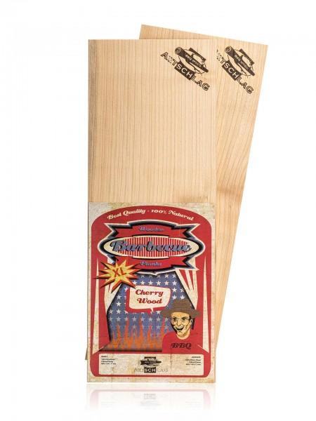 Axtschlag Grillbretter XL - Kirsche (Cherry), 400 x 150 x 11 mm 2 Stk.