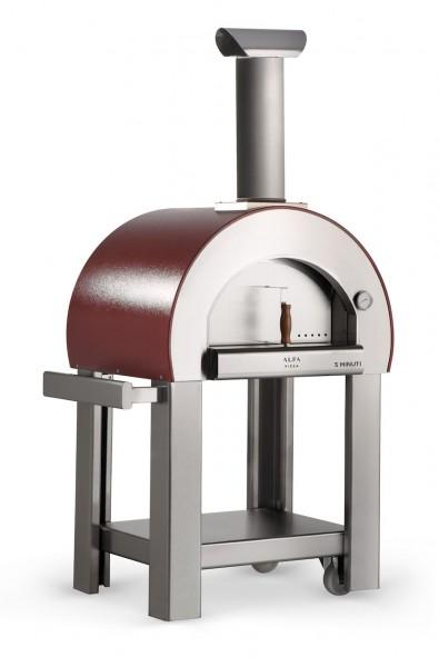Alfa Pizzaofen 5 Minuti mit Stand (rot)