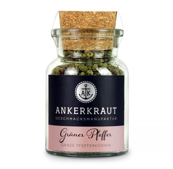 Ankerkraut Grüner Pfeffer, ganz im Korkenglas 40g