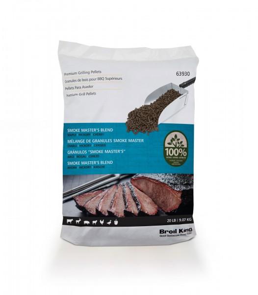 Broil King Pellets Smoke Master's Blend - 9kg Beutel (Ahorn/Hickory/Kirsche)