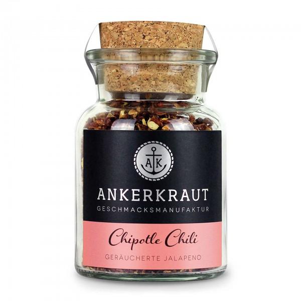 Ankerkraut Chipotle Chili, geschrotet, im Korkenglas