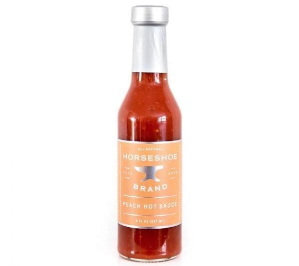 Horseshoe Brand Peach Hot Sauce 237ml