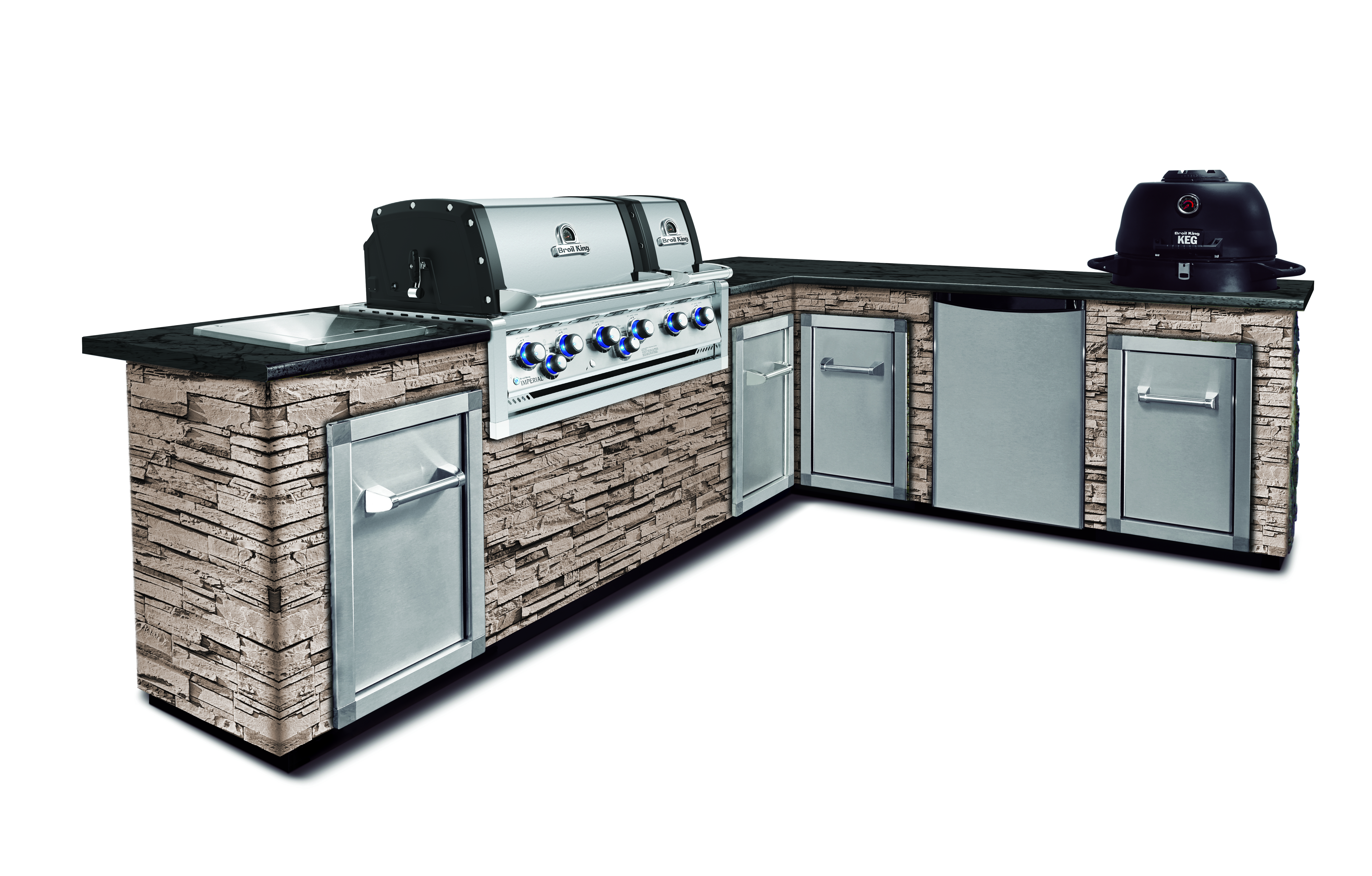 Gas Oder Holzkohlegrill Xl : Broil king imperial™ 690 xl pro built in 360° bbq