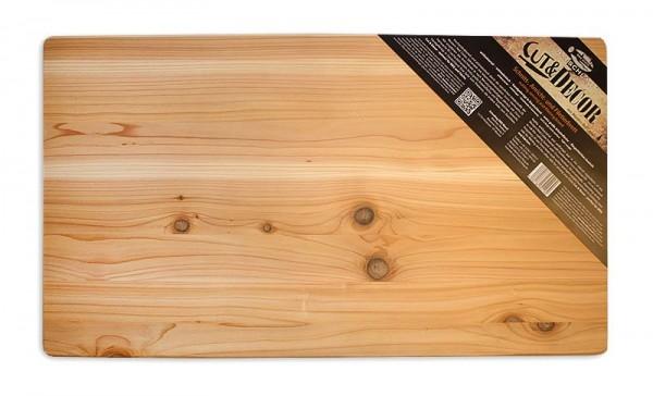 Axtschlag XXL Arbeitsbrett - 700x400x25mm aus Western Red Cedar