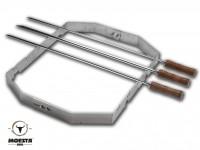 Moesta BBQ Churrasco'BBQ - Set für Smokin'Pizzaring: 57 cm (4-teilig)