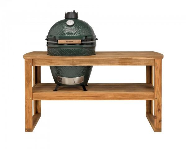 Big Green Egg Tisch aus Akazienholz inkl. Rollen für Large