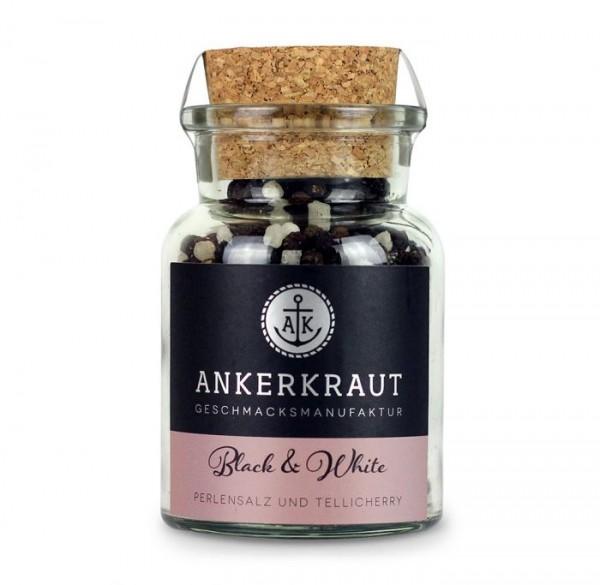 Ankerkraut Black & White Pfeffer/Salz im Korkenglas 115g