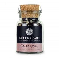 Ankerkraut Black & White Pfeffer/Salz im Korkenglas