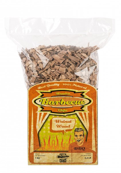 Axtschlag Räucherchips - Walnut (Walnuss) 1kg