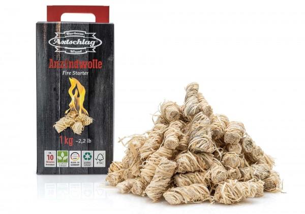 Axtschlag Anzündwolle - In Wachs getränkte Holzwolle