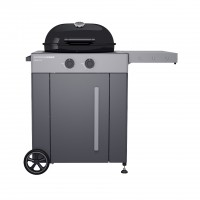 Outdoorchef - Arosa 570 G Grey Steel, schwarz, Gaskugelgrill