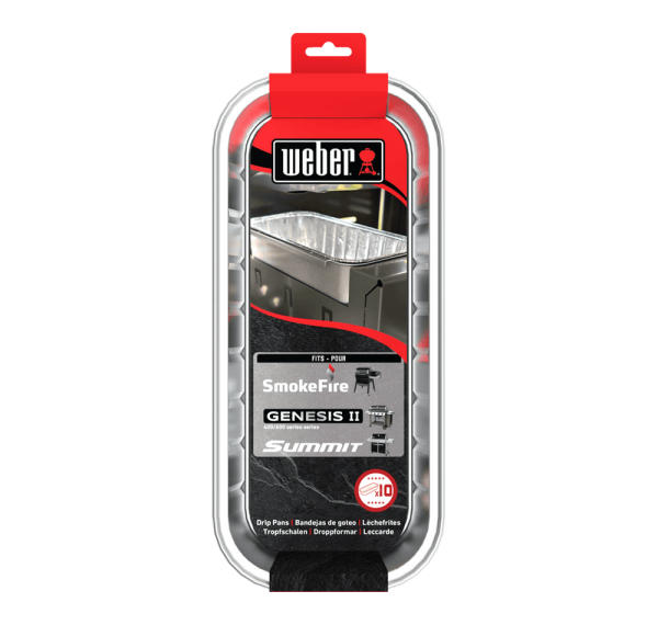 Weber Alu-Tropfschalen für Smokefire, Genesis II 400-/600-Serie & Summit 400-/600-Serie, 10 Stk.