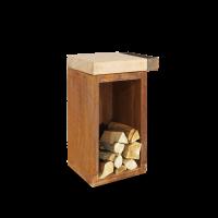 OFYR Butcher Block Storage 45-45-88-RW Rubberwood