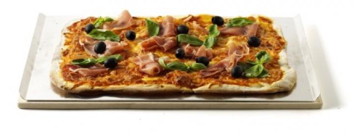 Pizzastein Rechteckig inklusive Blech