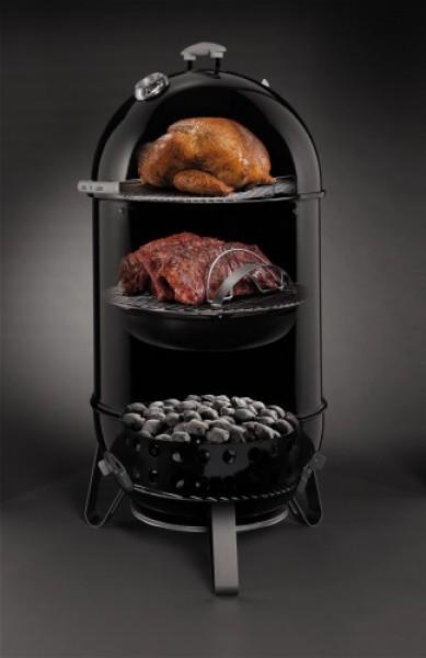 Smokey Mountain Cooker Black 47 Cm Weber Holzkohle Grills