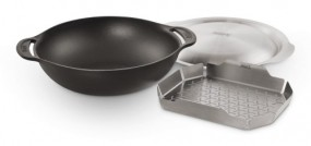 Weber® Wok-Einsatz - Gourmet BBQ System™ inklusive Deckel und Dünsteinsatz